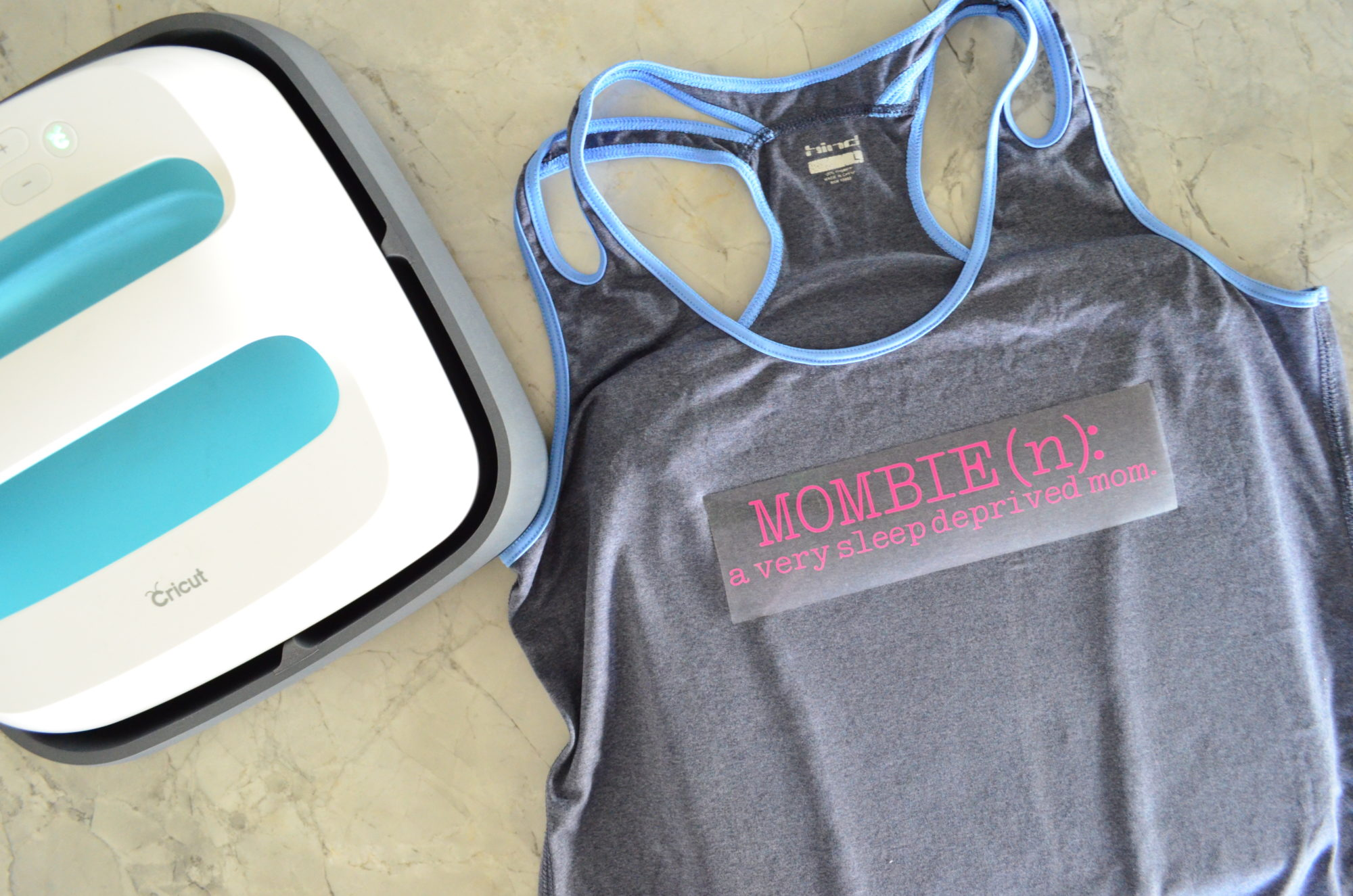 DIY Mombie Workout Shirt with Cricut EasyPress