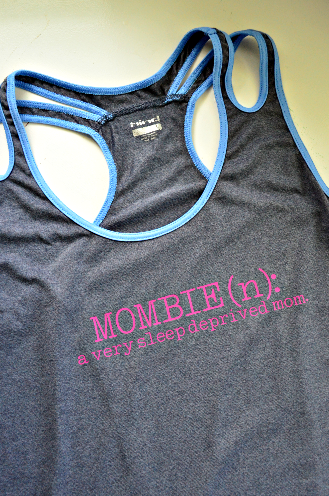 "DIY ""Mombie"" Workout Shirt"