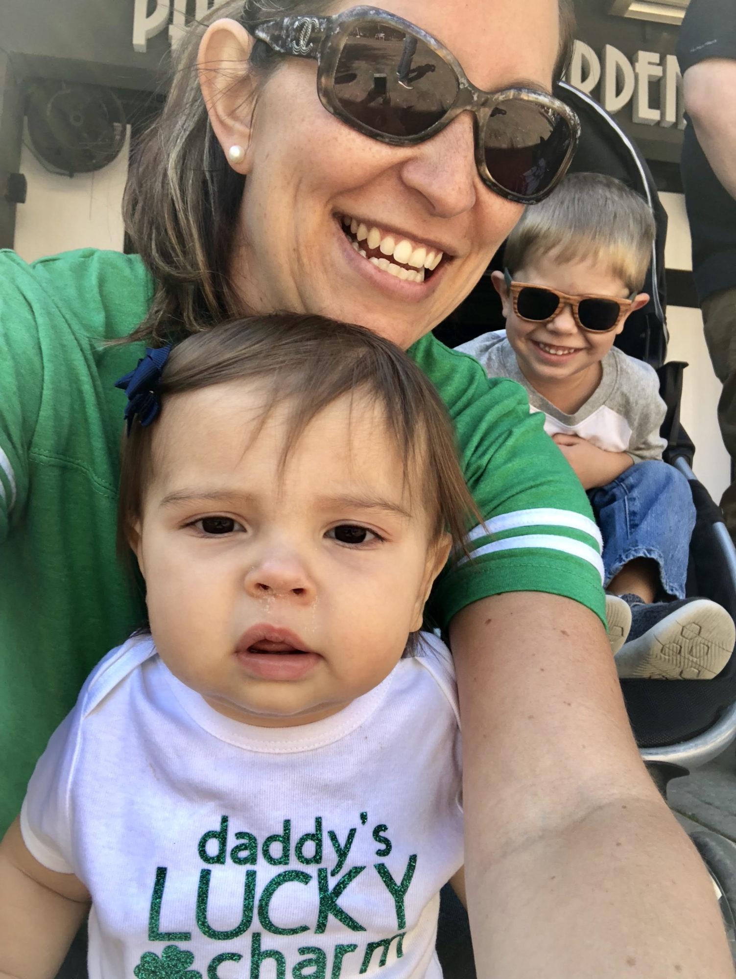's Lucky Charm T-Shirt Selfie