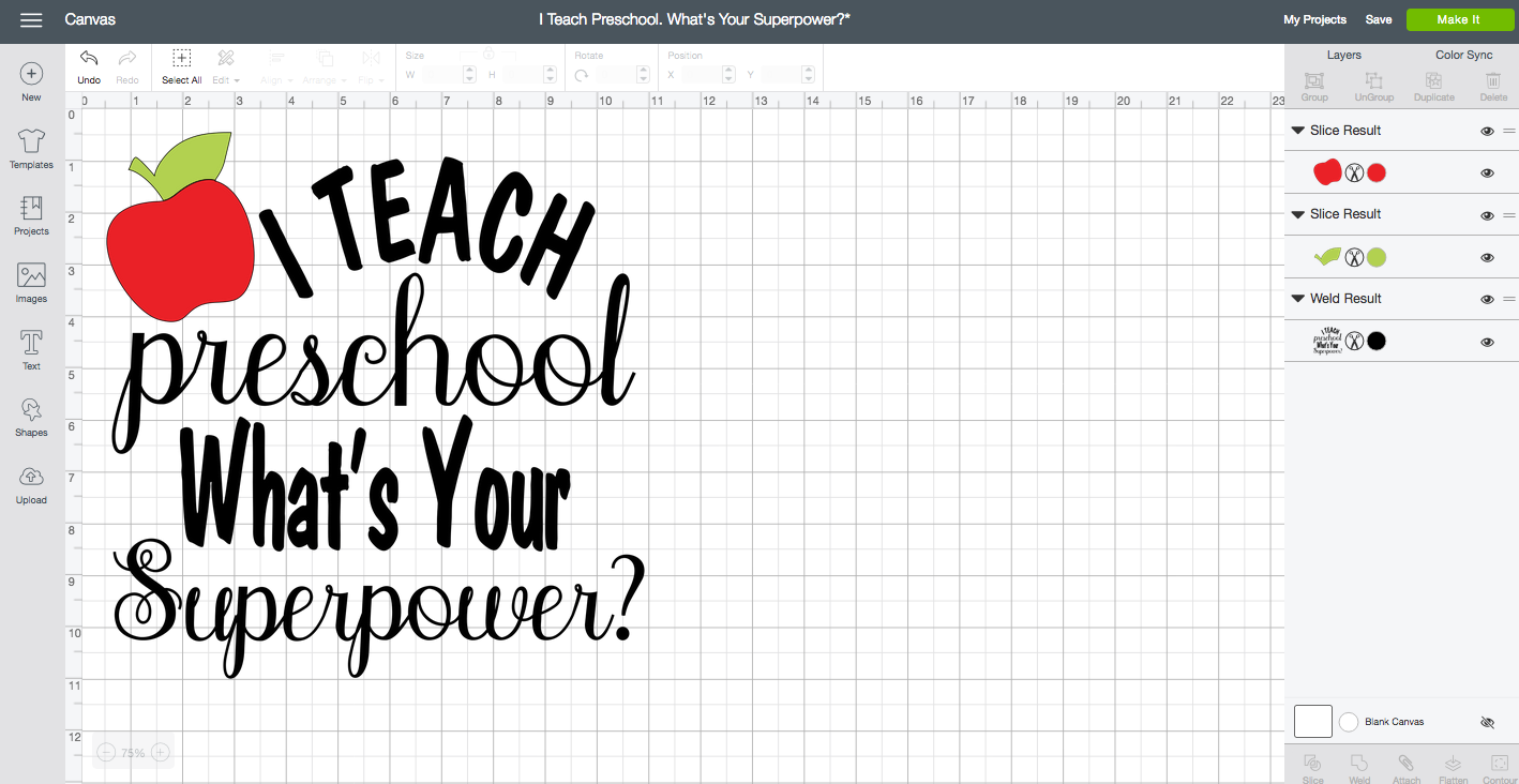 """I Teach Preschool. What's Your Superpower?"" DIY Tote Bag"