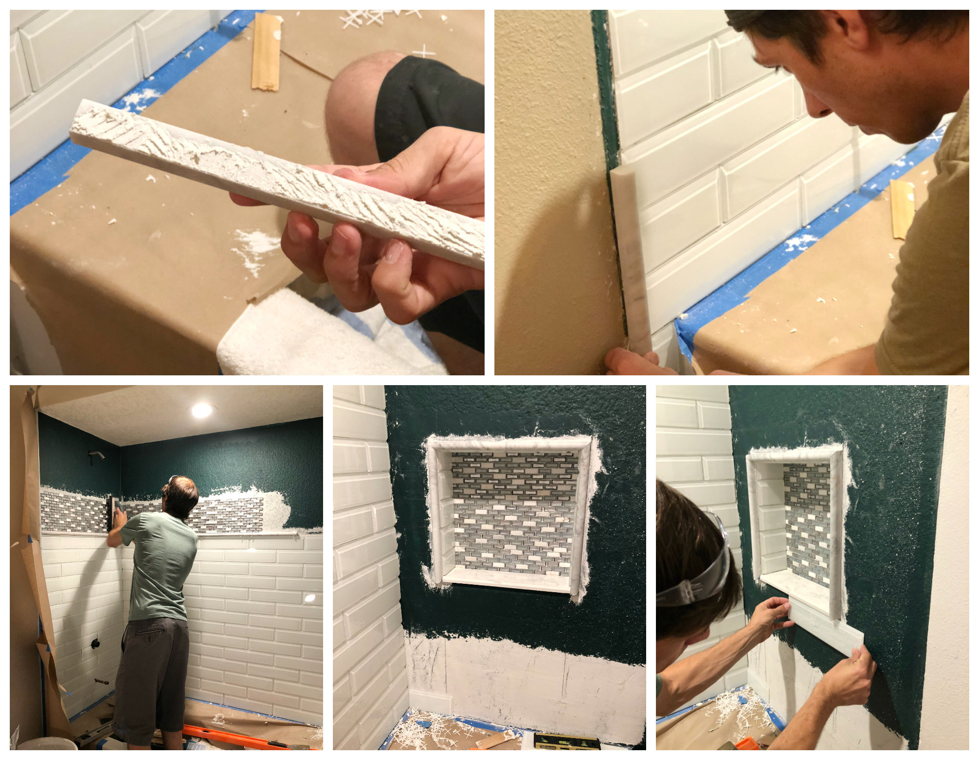 Bathroom Shower Tileing