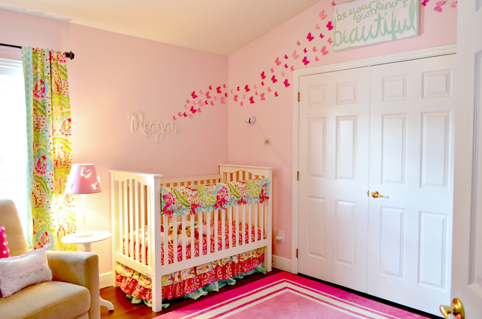Create a Paper Butterfly Wall in Nursery