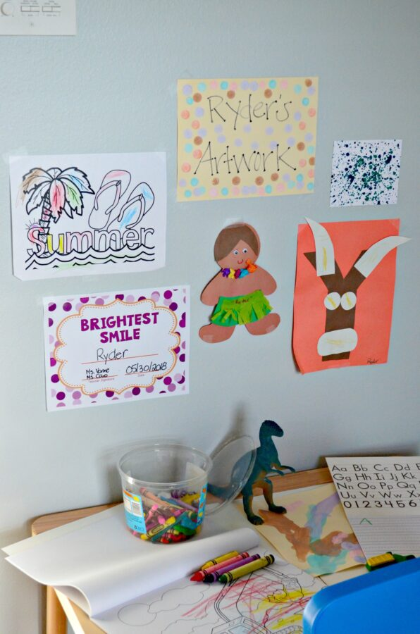 DIY Creative Workspace For Preschoolers