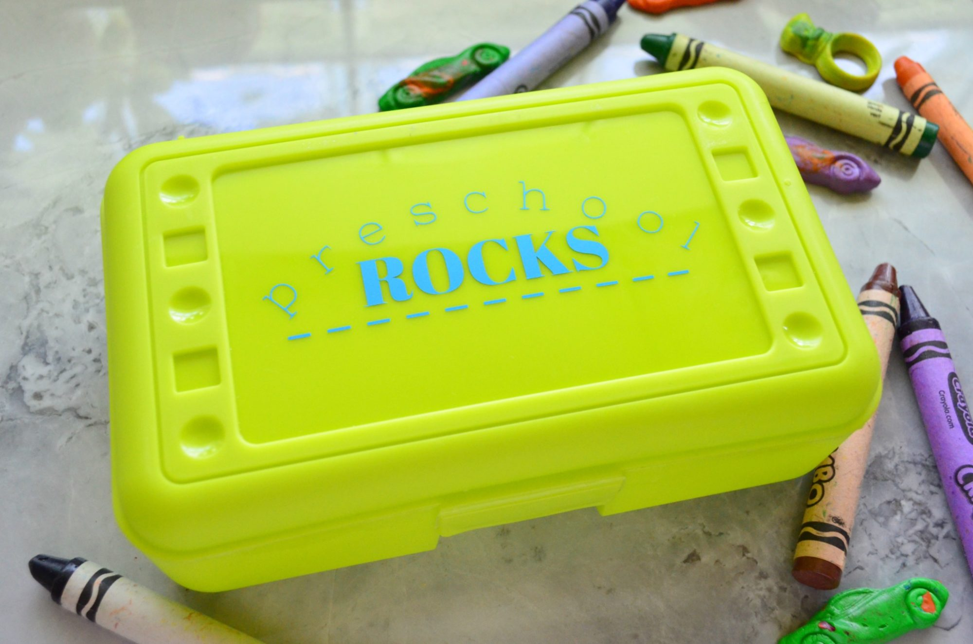 Custom Elementary School Rocks Pencil Box