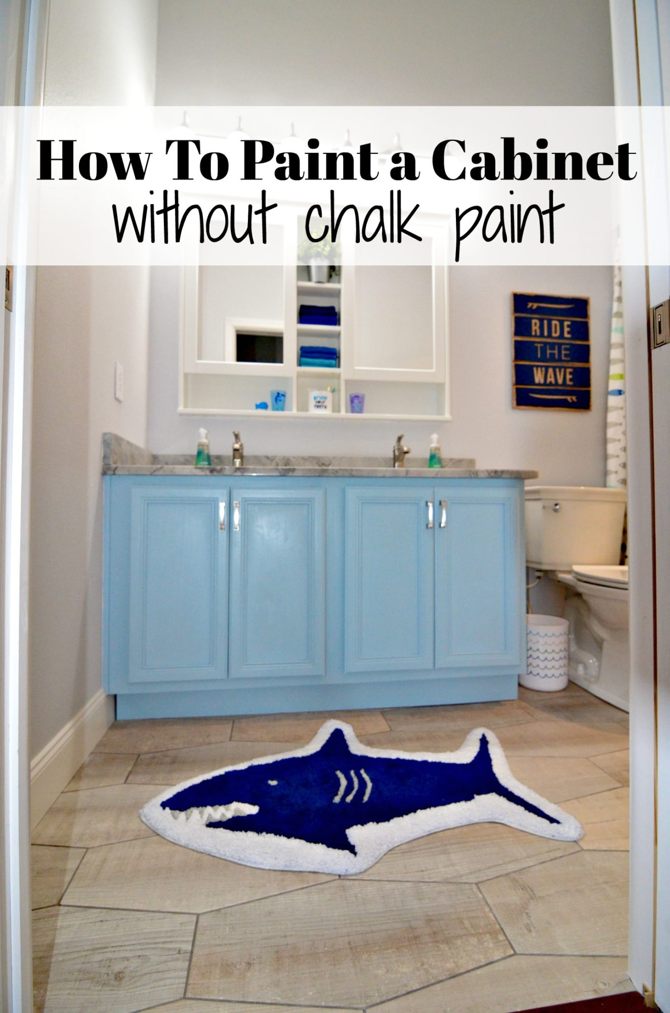 How To Paint a Cabinet without chalk paint