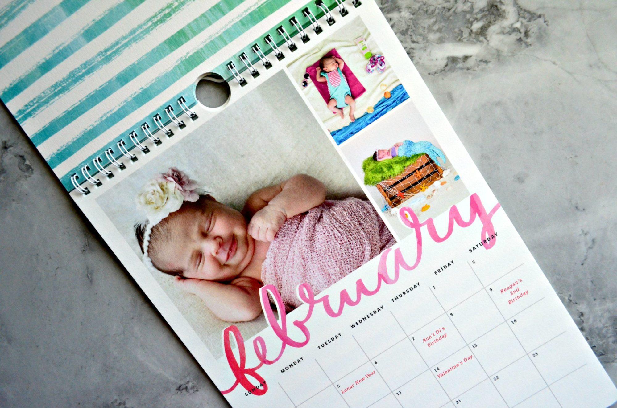 Minted Calendar February