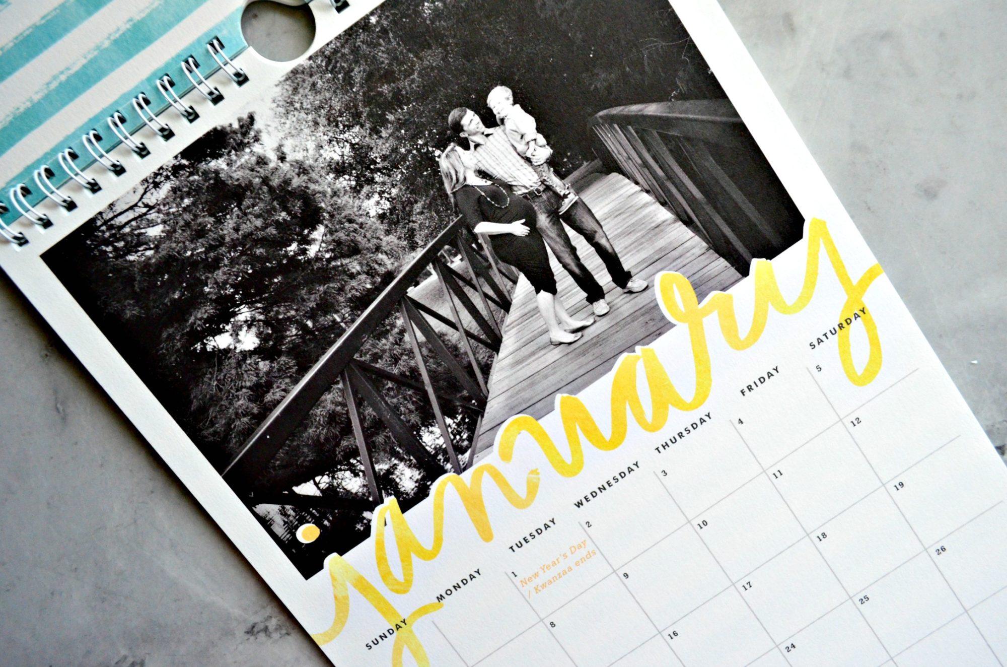 Minted Calendar January