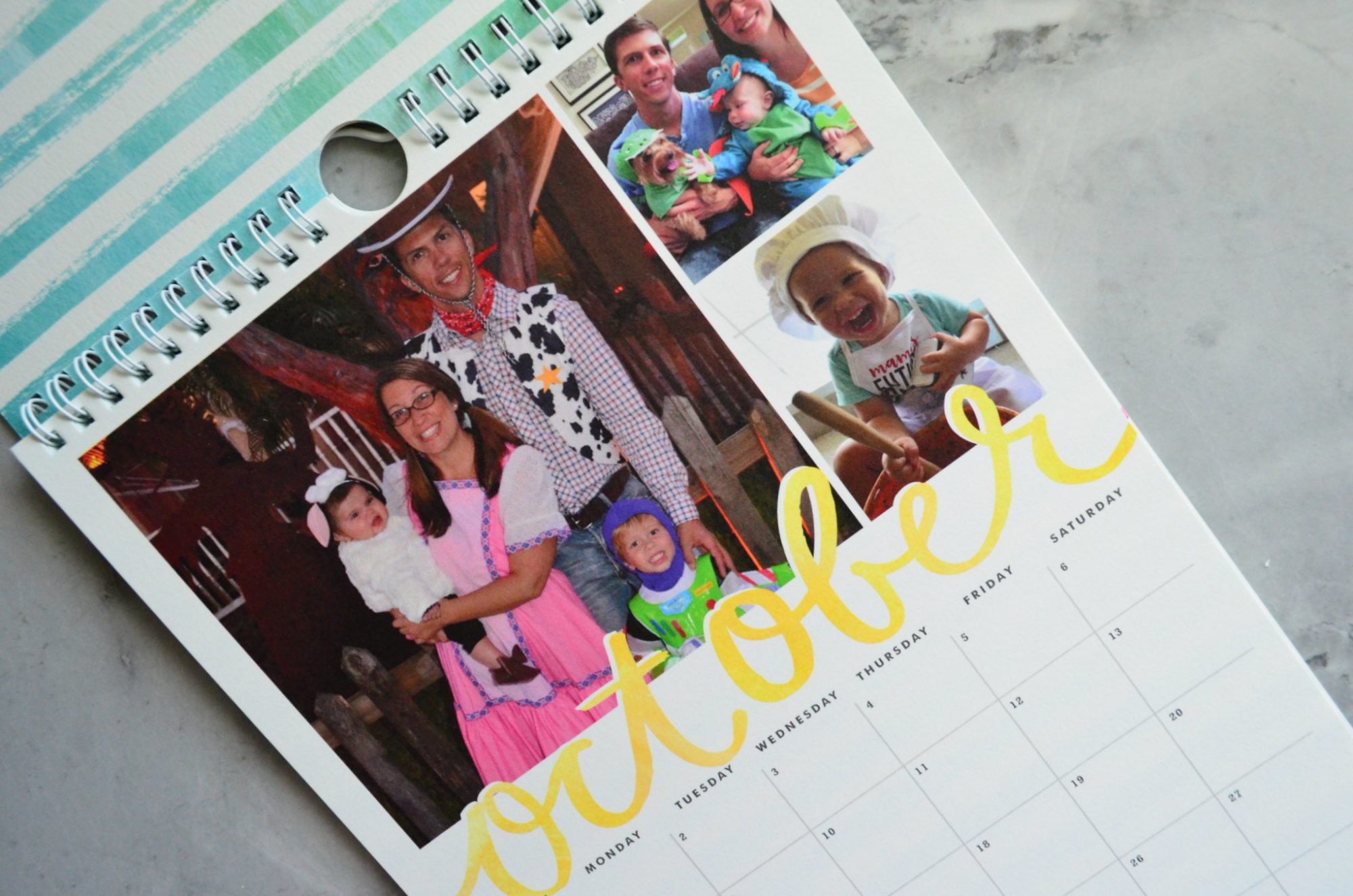 Minted Calendar October for Halloween