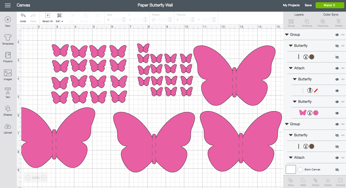 Paper Butterfly Wall - Cricut Design Space
