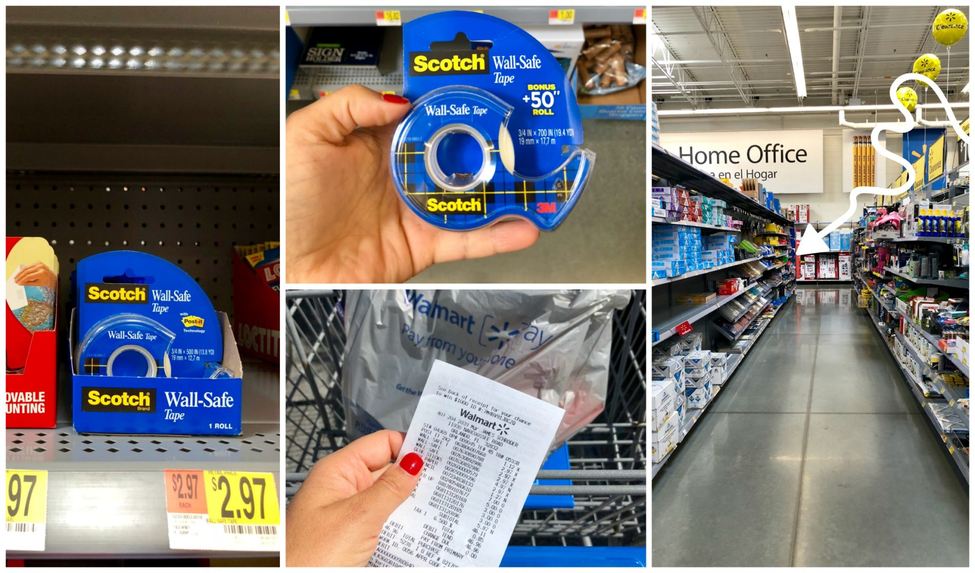 Scotch® Wall-Safe Tape at Walmart