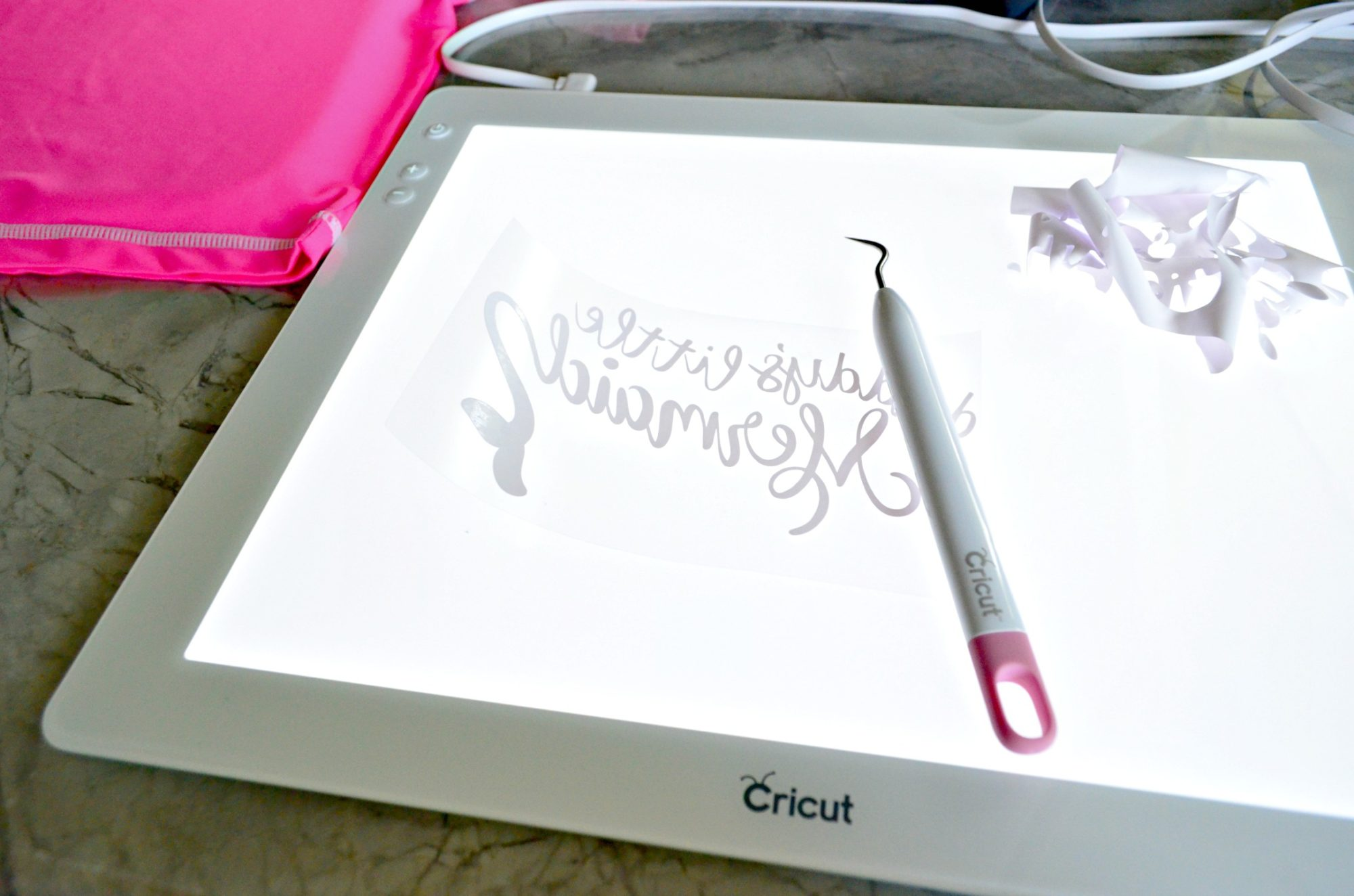 Cricut BrightPad with Iron-On Vinyl