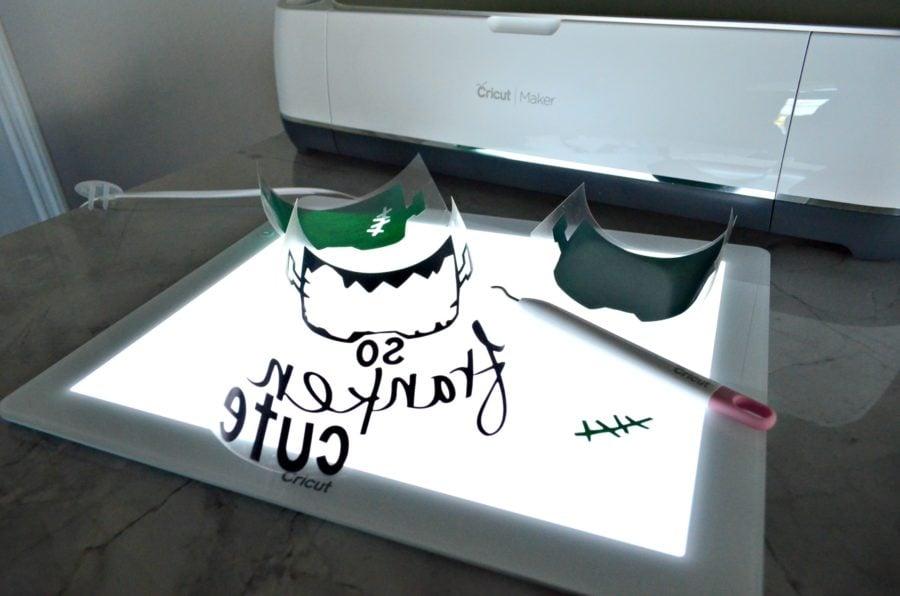 Cricut BrightPad with So Franken Cute Design
