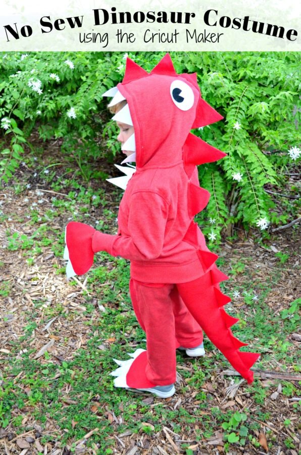 No Sew Dinosaur Costume using the Cricut Maker