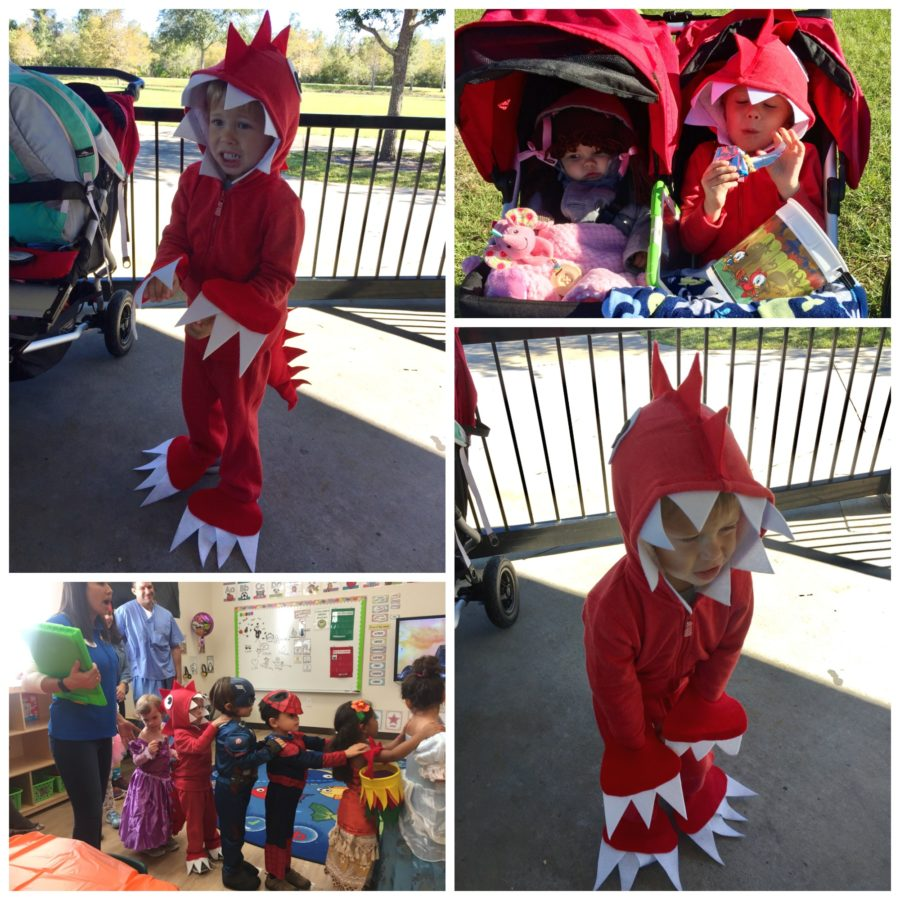 No Sew Dinosaur Costume Collage