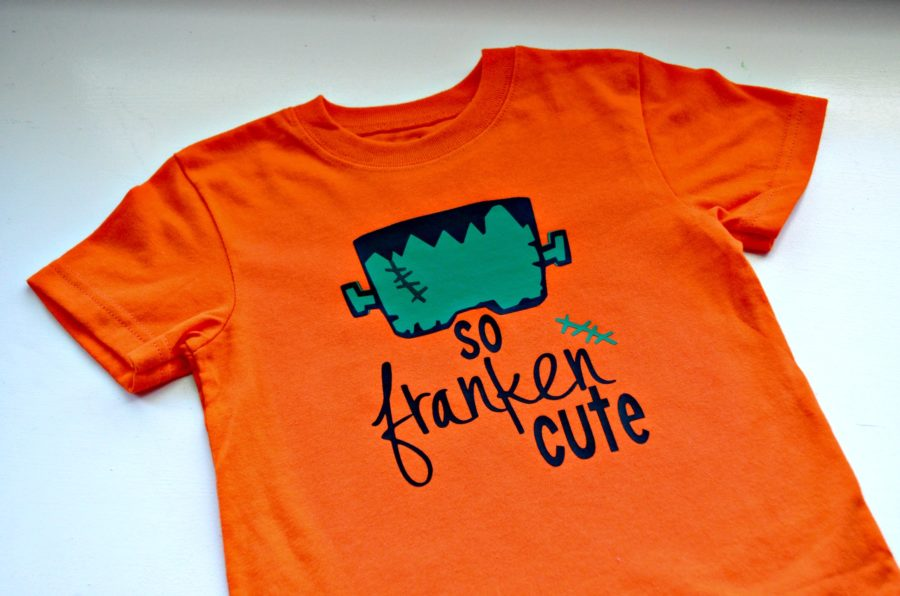 So Franken Cute DIY Halloween Shirt