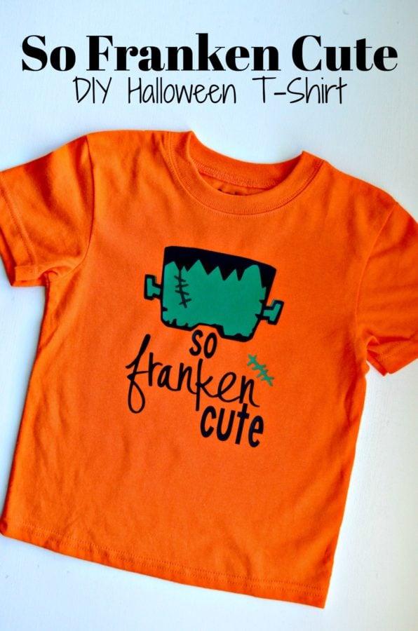 So Franken Cute - DIY Halloween T-Shirt