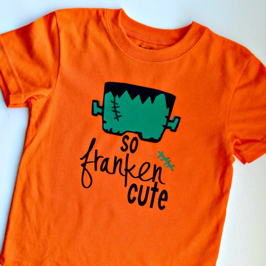 So Franken Cute – DIY Halloween T-Shirt