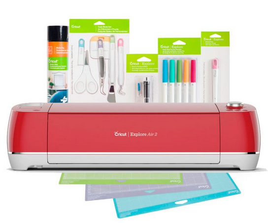Cricut Explore Air 2 + Essentials Bundle, Raspberry