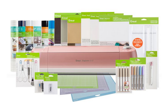 Cricut Explore Air 2 + Everything Bundle, Flamingo Pearl