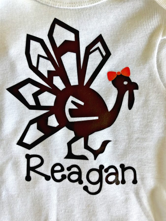 DIY Personalized Thanksgiving Girl Turkey Shirt