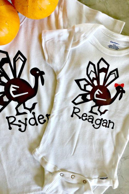 DIY Personalized Thanksgiving Turkey Shirt Photo