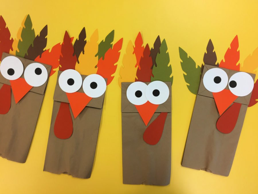 Turkey Paper Bag Puppets Craft Activity