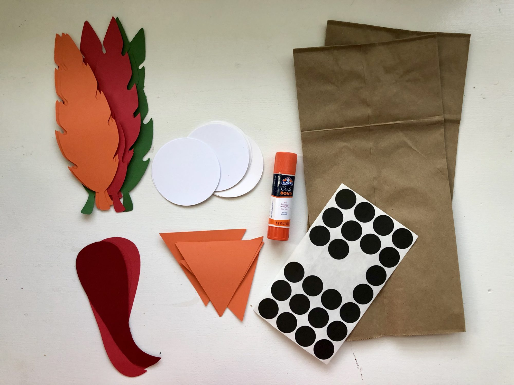 Turkey Paper Bag Puppets Supplies