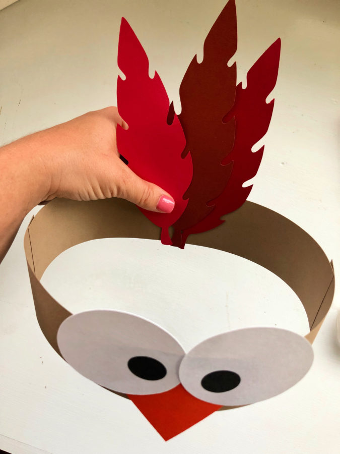 Turkey Paper Headbands -Attach Feathers