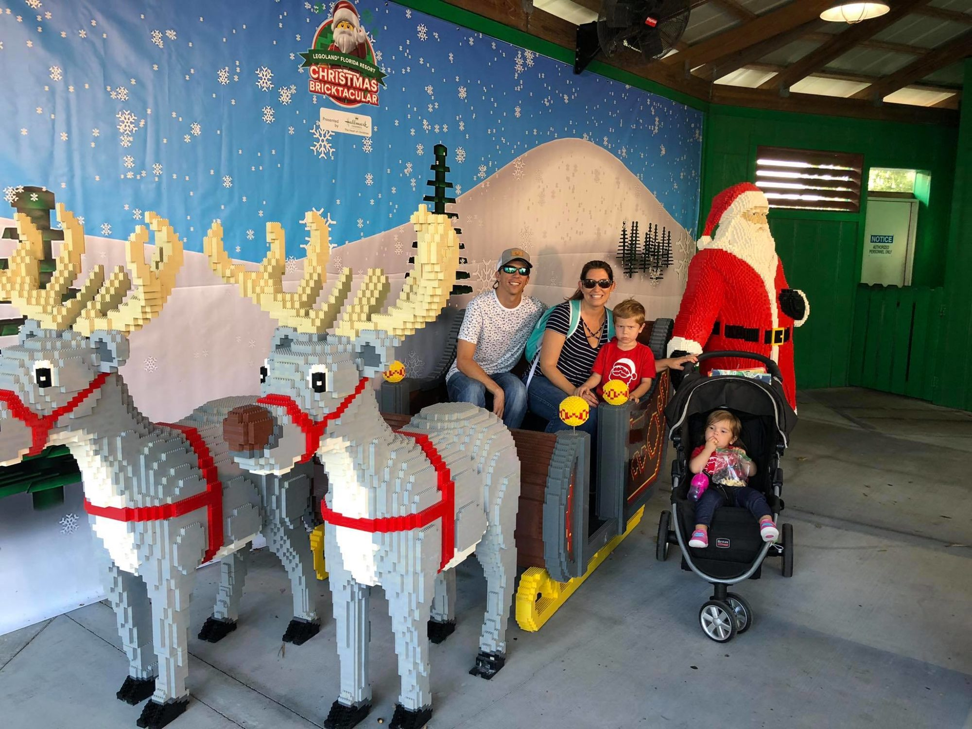 LEGOLAND CHRISTMAS BRICKTACULAR SANTA AND SLEIGH
