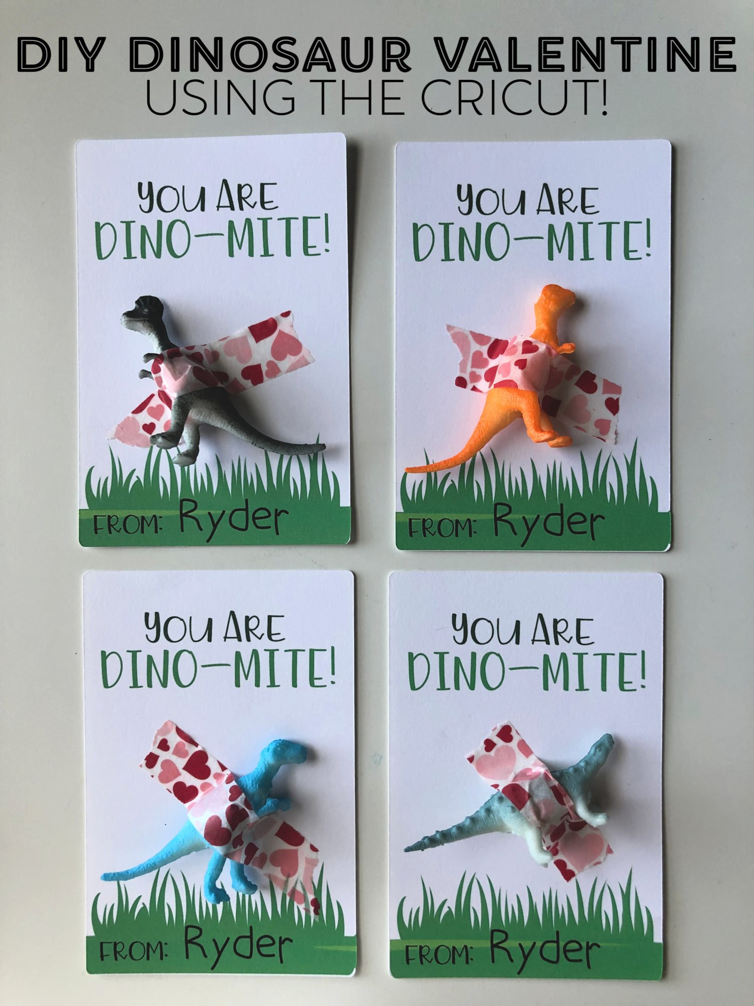 DIY Dinosaur Valentine using the Cricut