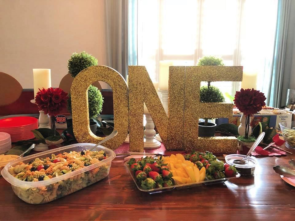 "DIY Glittered ""ONE"" Letters"