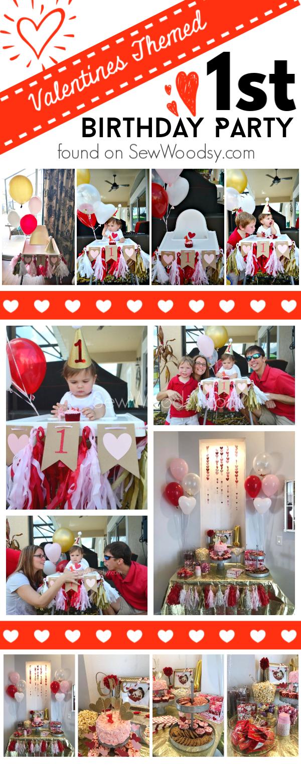 Valentines Themed 1st Birthday Party