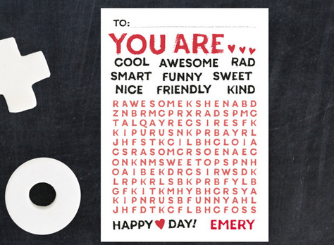 Wonderful Words Valentines