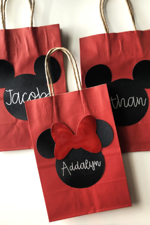 DIY Mickey & Minnie Favor Bags