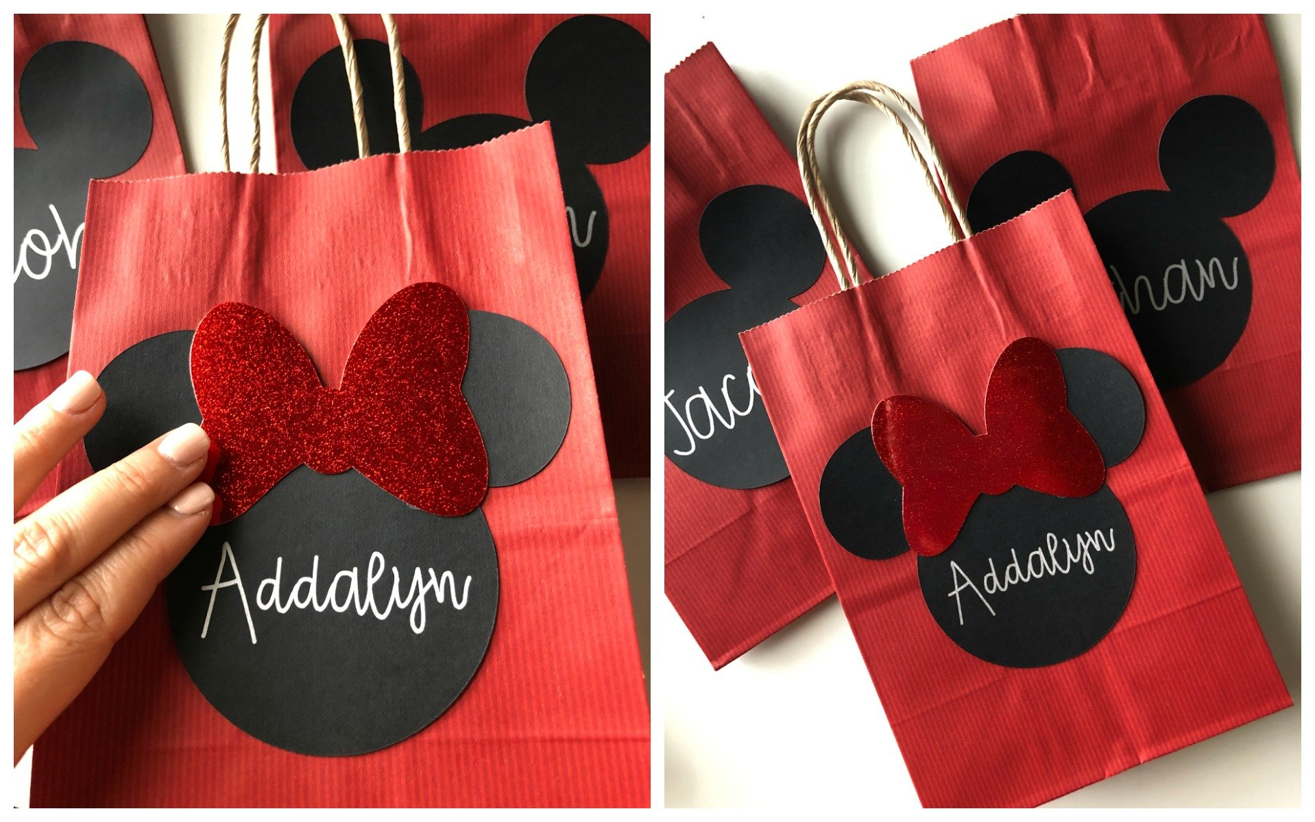Diy Minnie Mouse Favor Bags Sew Woodsy