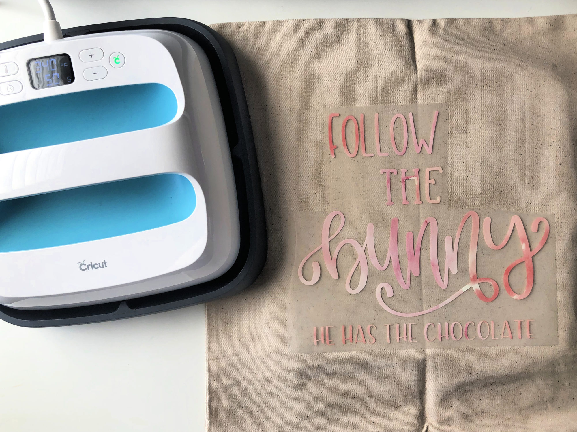 DIY Follow the Bunny Pillow with Cricut EasyPress