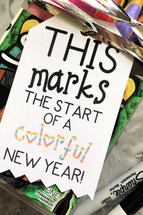 """Back To School """"Colorful New Year"""" Gift Tag"""