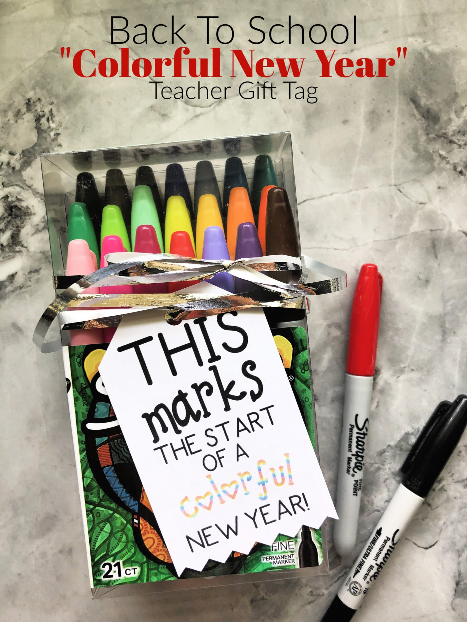Back To School _Colorful New Year_ Gift Tag
