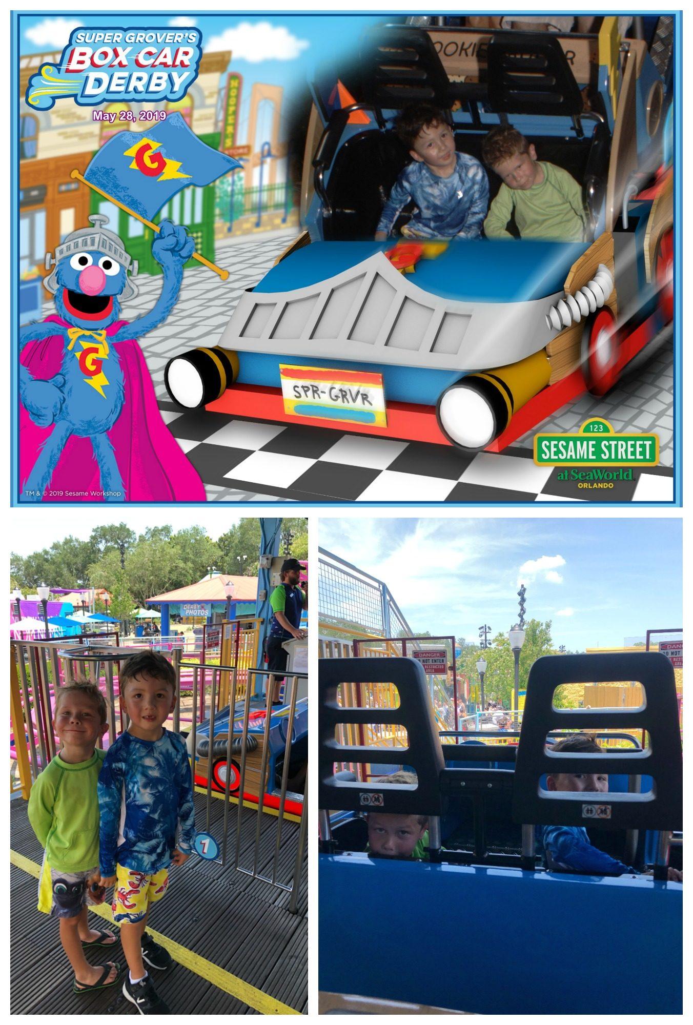 Super Grover's Box Car Derby