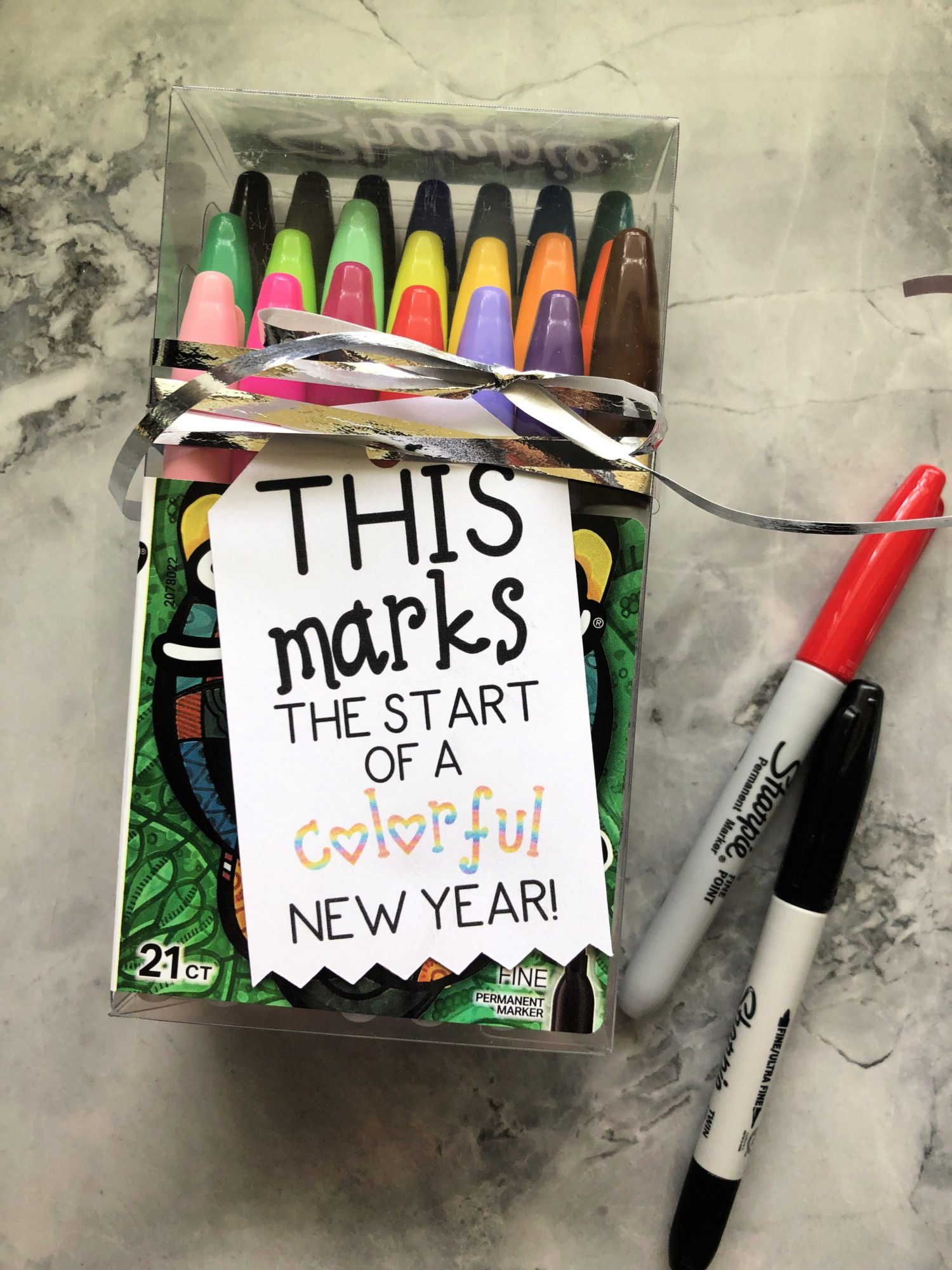 This Marks The Start Of A Colorful New Year Teacher Gift Tag