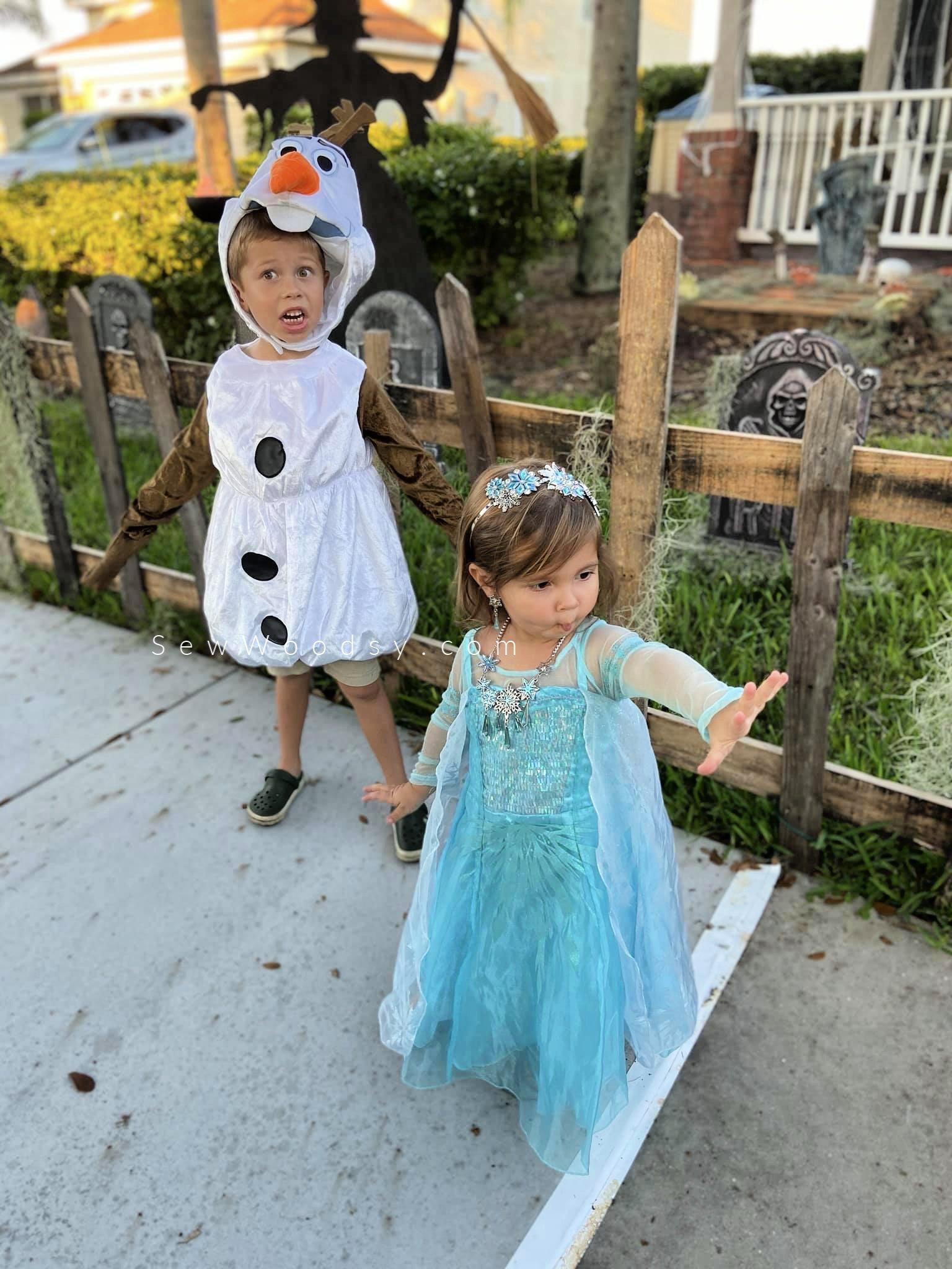 Elsa and Olaf Kids Costumes